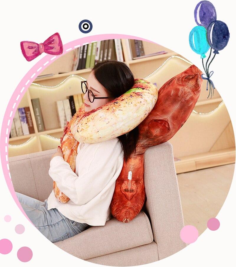 HTB1sPoaBL9TBuNjy0Fcq6zeiFXaM 3D Simulation Food Shape Plush Pillow Creative Chicken Sausage Plush Toys Stuffed Sofa Cushion Home Decor Funny Gifts for Kids