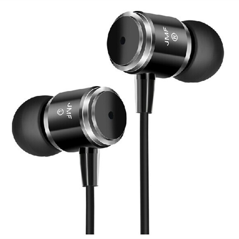 Wholesale - Original JMF 3.5mm With Mic and Remote Earphone Headphones For IPhone 6 5 5S Xiaomi MP3 MP4 High quality Best Bass