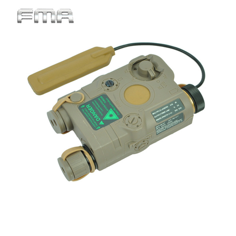 FMA AN/PEQ-15 Green Dot Laser Battery Box With White LED Flashlight And IR Illuminator Lense Hunting Accessory TB0068 BK/Tan sinairsoft tactical peq 15 red laser with white led flashlight torch ir illuminator for airsoft hunting outdoor
