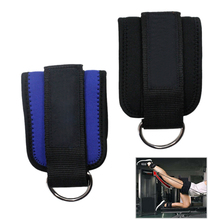 1 Pair Foot Ankle Strap Sport Straps Padded D-ring Cuffs for Gym Workouts Cable Machines Leg Exercises