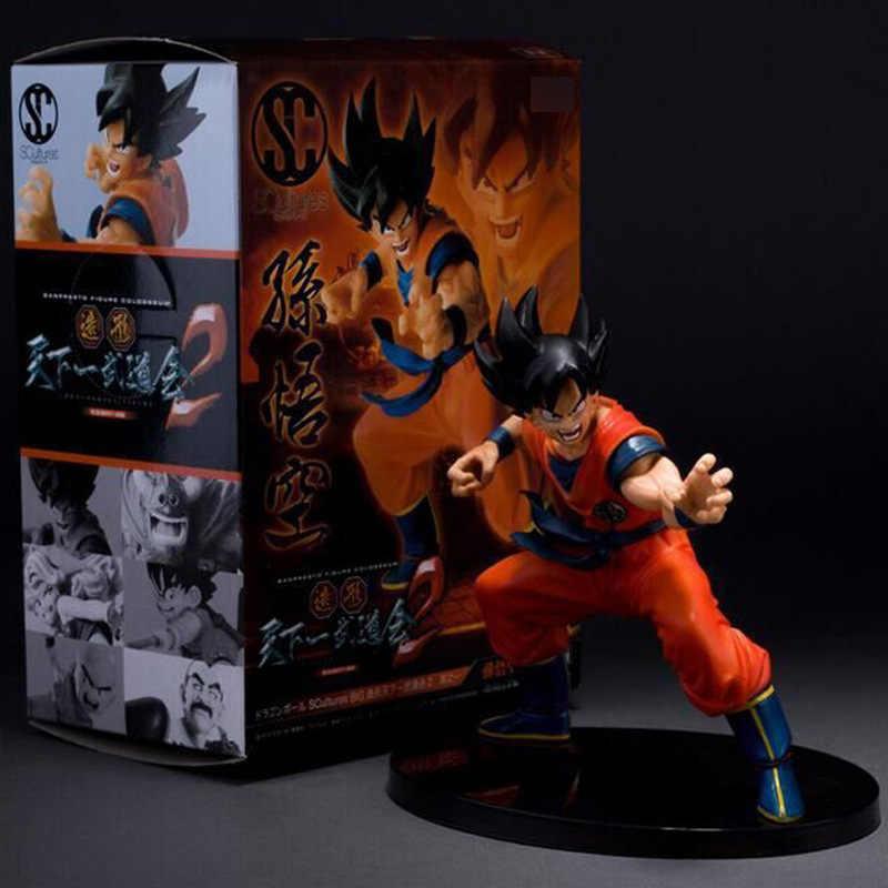 15 см Dragon Ball Сон Гоку игрушка ПВХ аниме Рисунок Саян модель цифры кукла украшения Дети подарок Z49