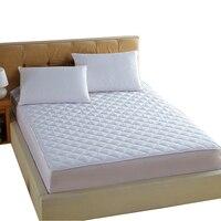 Белый стежка кровать pad постельным бельем постельное белье шлифования полиэфирной ткани Multi-размер Защитная крышка матрас