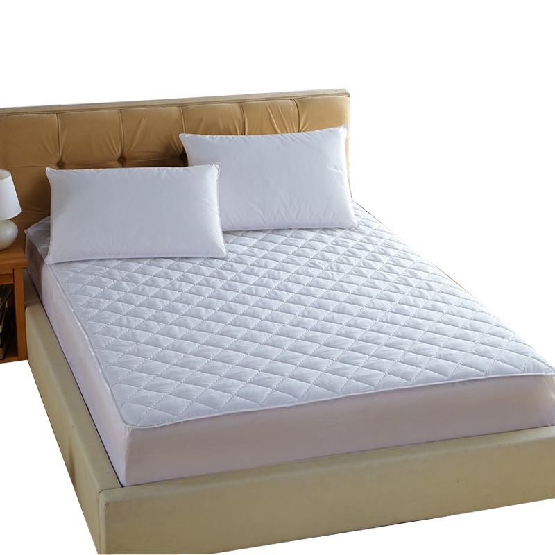 white quilting <font><b>bed</b></font> pad fitted sheets linens sanding polyester fabric multi-size mattress protection cover