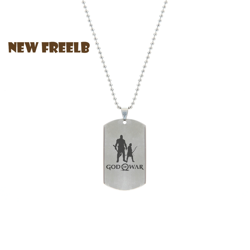 New&Hot PS4 Game God Of War 4 Logo Necklaces Stainless Steel Dog Tag Pendant Fashion Jewelry for Women and Men fans 3 Styles