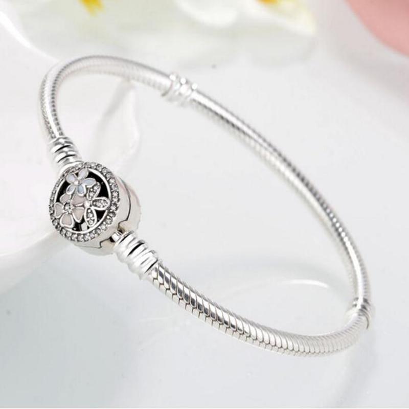 Купить Аутентичные 925 пробы Серебряные ювелирные изделия классический цепь  браслет и браслет Роскошный оригинальный бренд браслет для подарок на . be65f88e2dc