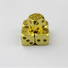 1pc Manual Polishing Solid Brass Dice KTV Club Bar Supplies Copper Alloy Drinking Dice Entertainment Accessories
