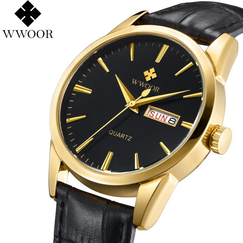 WWOOR Fashion Quartz Watches Men Top Brand Luxury Male Clock Business Mens Wrist Watch Waterproof Relogio Masculino De Luxo luxury watch men wwoor top brand stainless steel analog quartz watch casual famous brand mens watches clock relogio masculino