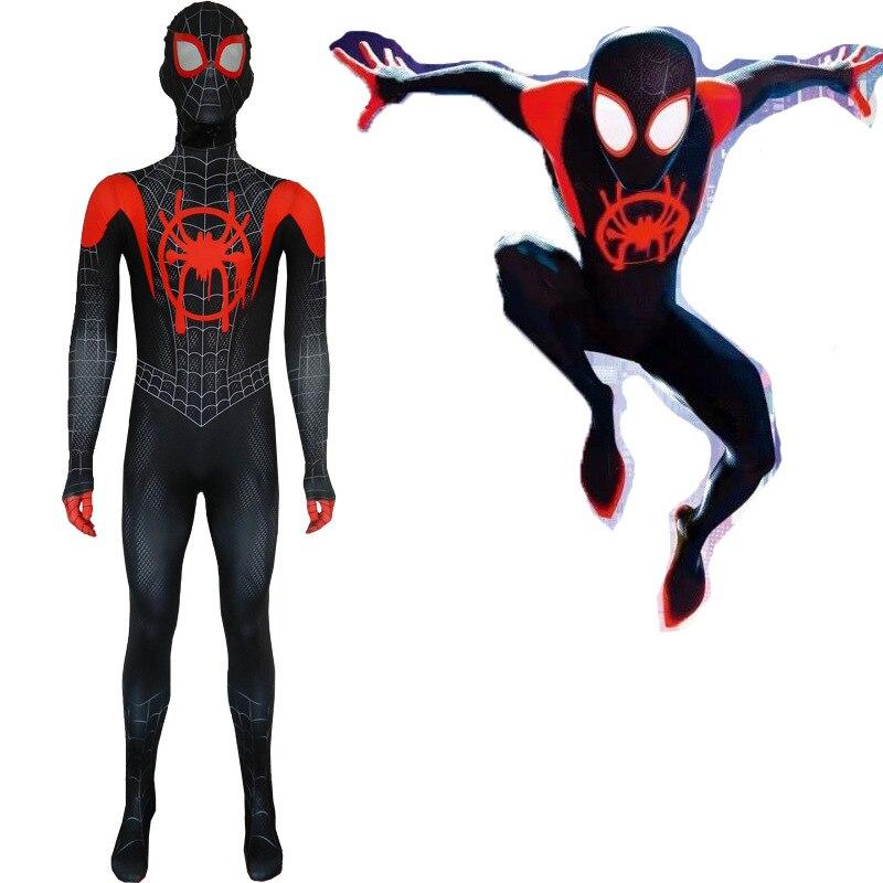2019 Лидер продаж человек паук 3D принт костюм для взрослых и детей обувь мальчиков человек паук косплей-костюм супергерой Zentai