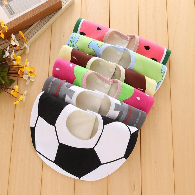 Infant baby girls and boys bibs burp cloth print fruit circle 360 degree baby waterproof bibs pure cotton bandana accessories