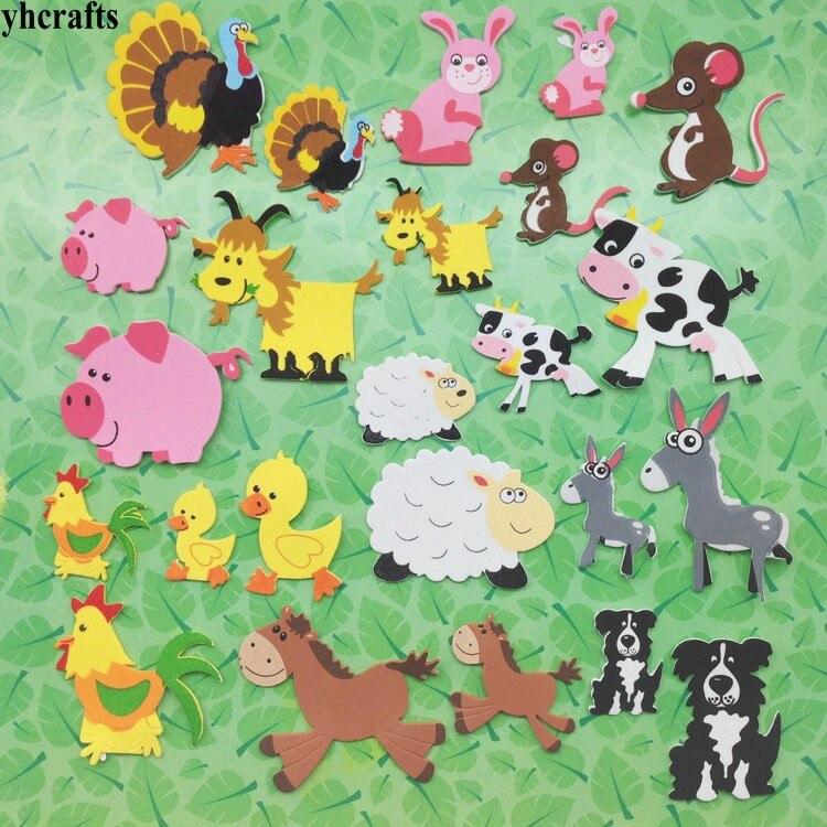 1 упаковка/Партия. Набор для скрапбукинга с изображением животных на ферме. Ранние развивающие игрушки для детского сада художественные поделки игрушки ручной работы howework DIY