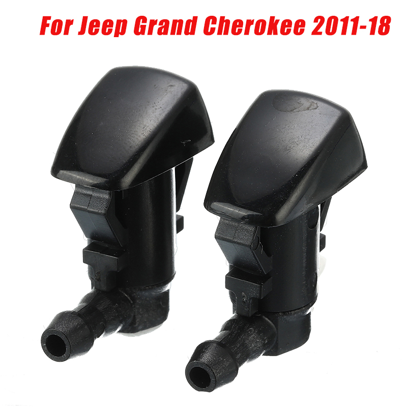 2x Car Windshied Wiper Washer Spray Nozzle For Jeep Grand Cherokee 2011 2012 2013 2014 2015 2016 2017 2018 image