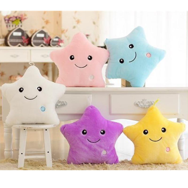 Luminous Pillow Star Cushion Colorful Glowing Pillow  1