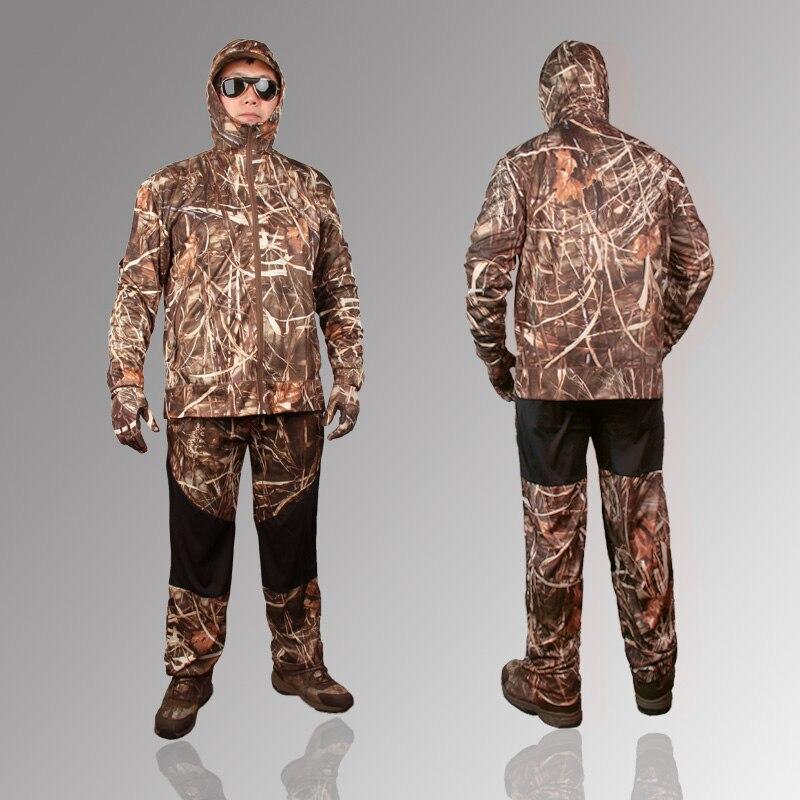 Extérieur jungle camouflage chasse vêtements bionic costume respirant protection solaire vêtements pêche vêtements chasse ghillie costume - 2