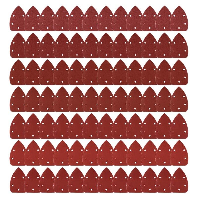 84Pcs Mouse Detail Sander Sandpaper Sanding Paper Assorted 40 60 80 120 180 240 320 Grits