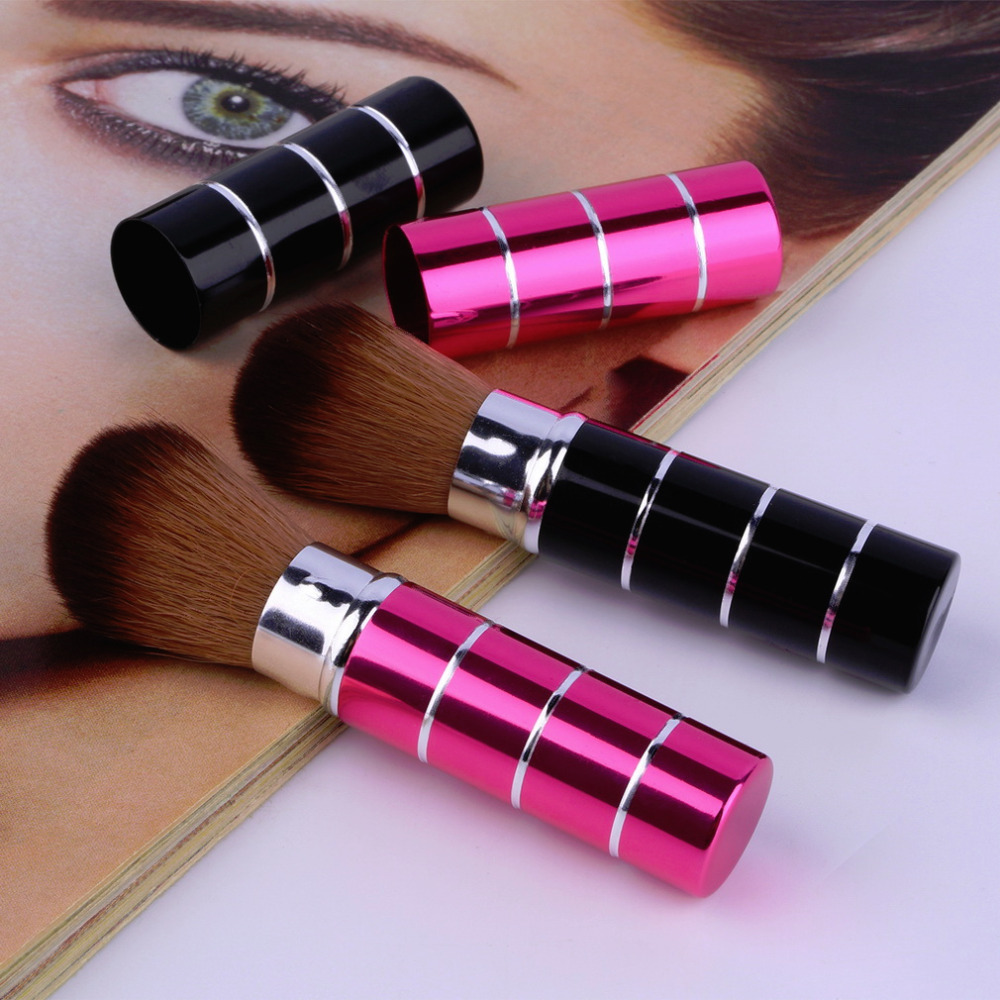 Make Up Design 1Pcs Mini Soft Makeup Brush Retractable Pro Foundation Cosmetic Blusher Face Powder Brushes Beauty Tools