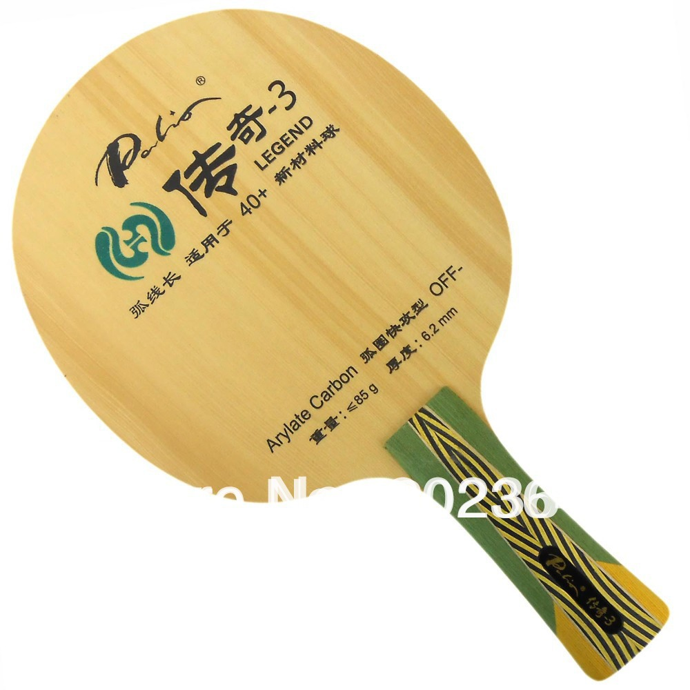 цена Palio Legend-3 (Legend3, Legend 3) 5 Wood + 2 Arylate-Carbon (OFF-) Table Tennis Blade for Ping Pong Racket онлайн в 2017 году