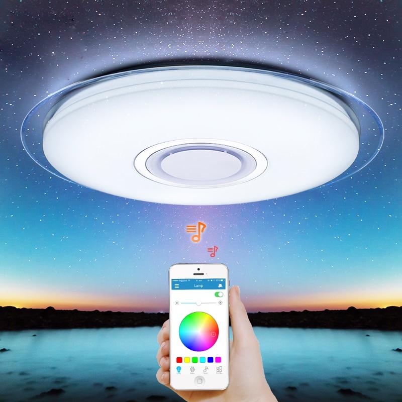 Smart led decke Licht RGB Dimmbare 25 W 36 W 52 W APP control Bluetooth & Musik moderne Led decke lampe wohnzimmer/schlafzimmer 220 v