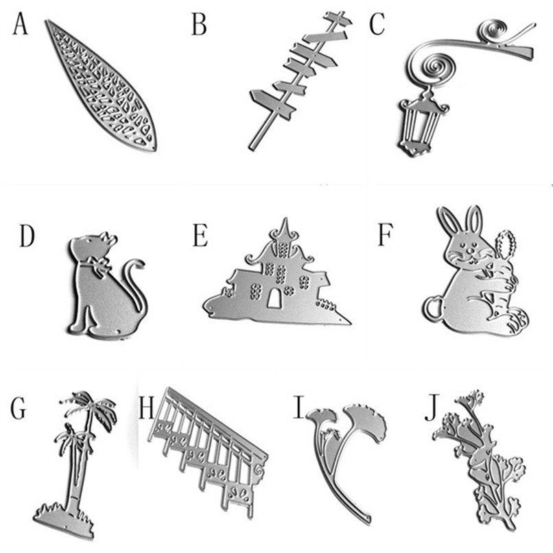 New Metal Cutting Dies Stencils For DIY Scrapbooking Leaf Photo Album Paper Card Gift Wholesale Free Shipping 4RB26#FN