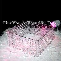 5PCS/LOT Wedding Table Centerpiece/wedding acrylic crystal cake stand/16 diameter 8 tall/40cmx20cm
