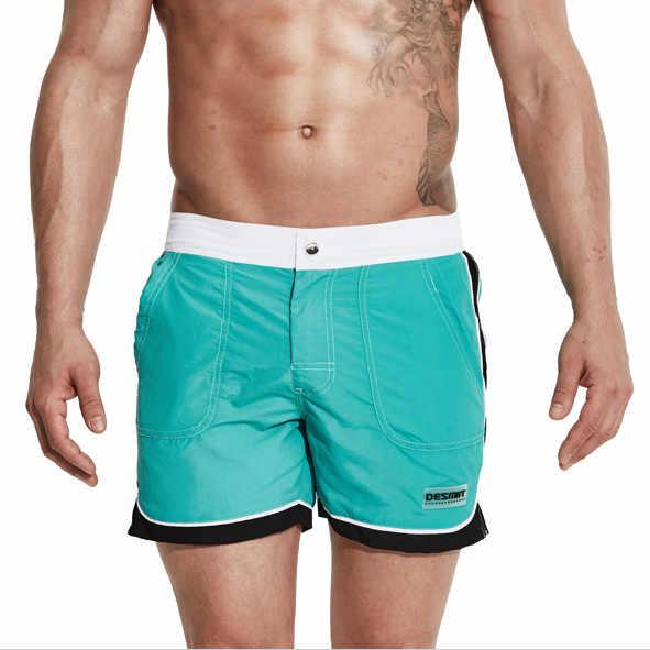 Męskie spodenki planszowe plaża stroje kąpielowe spodenki do pływania kąpielówki męskie bermudy surf spodenki plażowe biegaczy spodnie dresowe sportowe krótkie podszewka