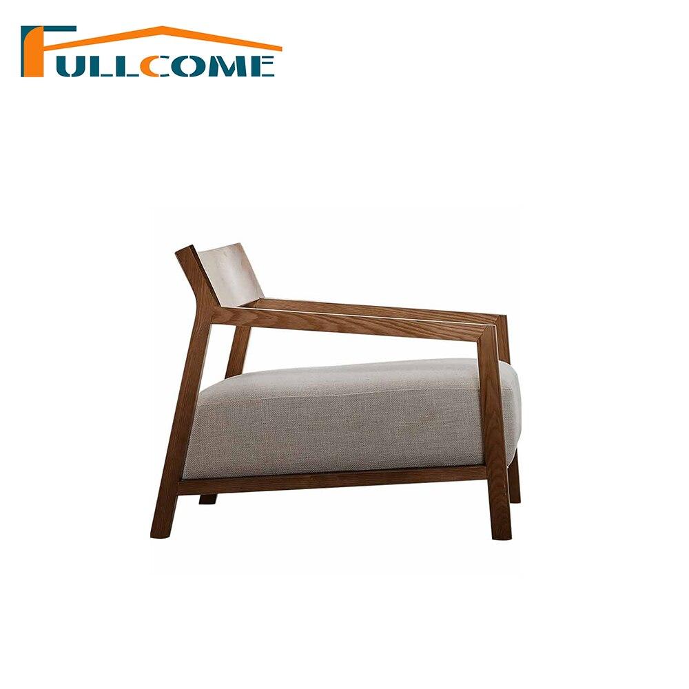 Galleria fotografica China Luxury Home Furniture Modern Leather Scandinavian <font><b>Sofas</b></font> Chair Divani Living Room Furniture Single Chair Fabric Chair