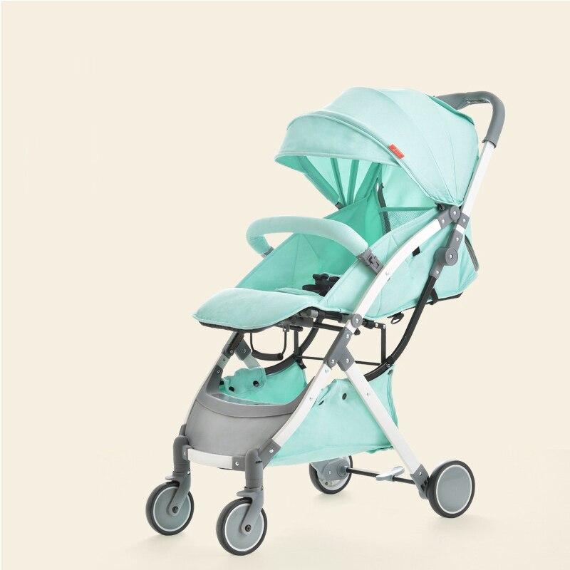 купить Lightweight baby stroller 6 KG folding baby pram can be on the plane 4 color 0-4 year по цене 11775.13 рублей