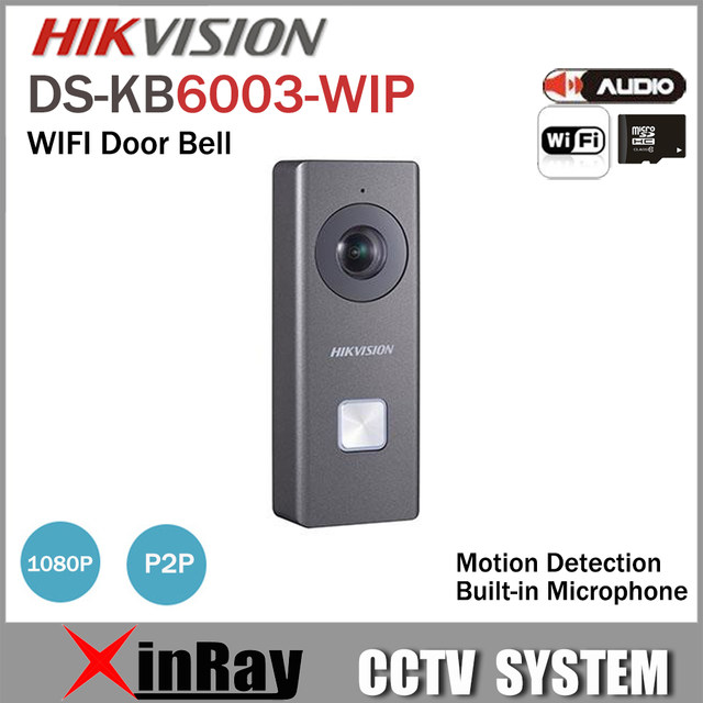 Hikvision Wifi Door Bell DS-KB6003-WIP With Camera support Motion Detection Two way Audio HIK-Connect Wireless Door Phone  sc 1 st  Aliexpress & Online Shop Hikvision Wifi Door Bell DS-KB6003-WIP With Camera ...