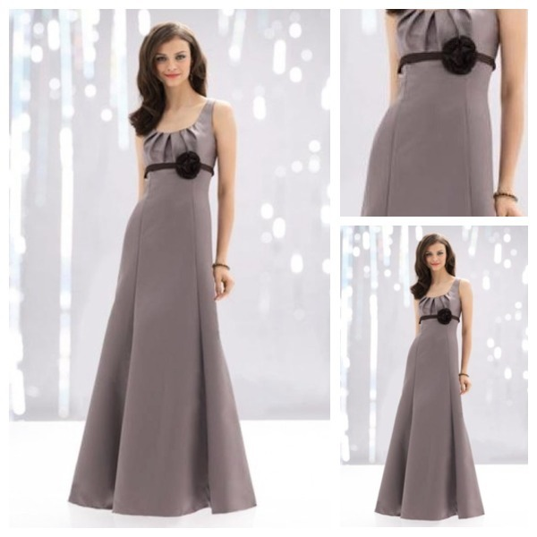5b76122aa86e Custom Made Top Quality Ruched Rectangle Thin Formal Empire Waist Satin  Modest Sleeveless Floral Simple Bridesmaid Dress Petite