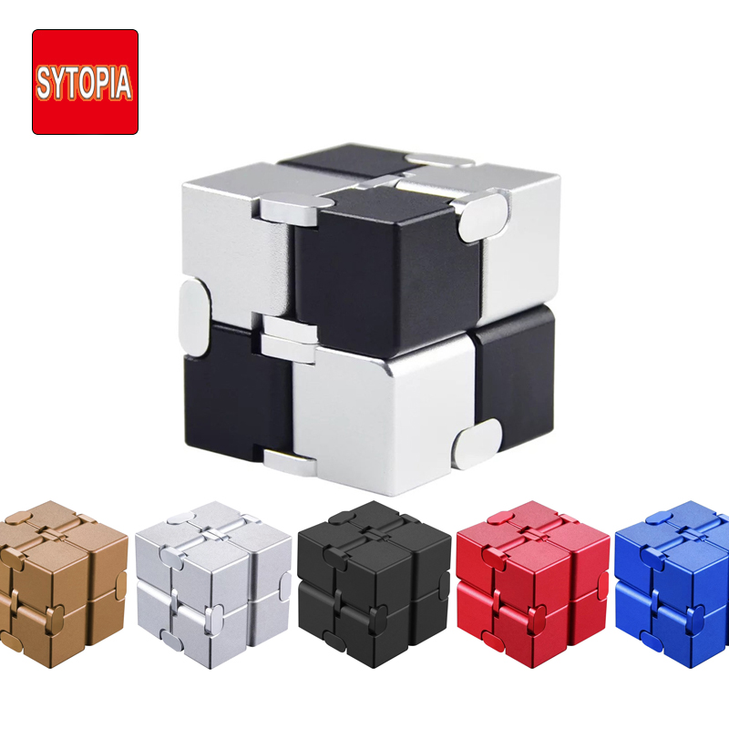 Metal Infinity Magic Cube Toys Finger Antistress Anxiety Relaxing Neos Trending Cube High Quality Gift For Boys Girls Men