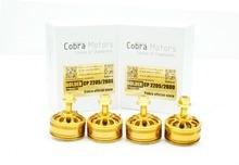 Golden Champion Cobra Motor CP2205-2600Kv,Free Shipping, 4pcs/Set Brushless Motor for Mini Drone Racing, FPV racing