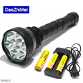 20000LM 9* XM-L T6 Outdoor Hunting Tactical  LED Torch Light 5 Mode Super powerful led flashlight+18650 26650 Battery+Charger