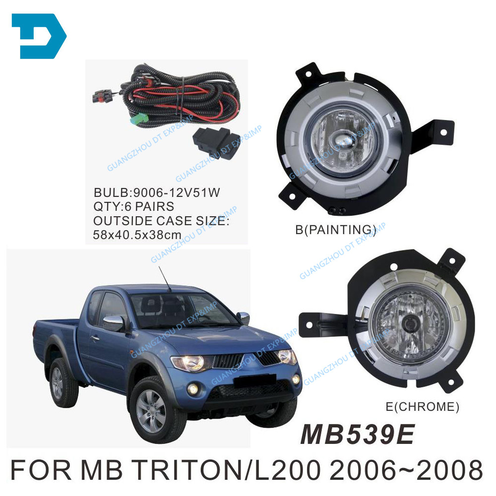 2006-2008 2 DOORS L200 FOG LAMP FULL SET WITH BULB WIRE AND SWITCH PICK UP 4 DOORS L200 CHOOSE BASED ON PICTURE opening 20 mm tripod with lamp red circle ship type switch kcd1 105 3 feet 2 file with lamp