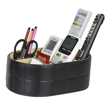 Quality leather remote control storage box household mobile phone miscellaneously hot-selling desktop