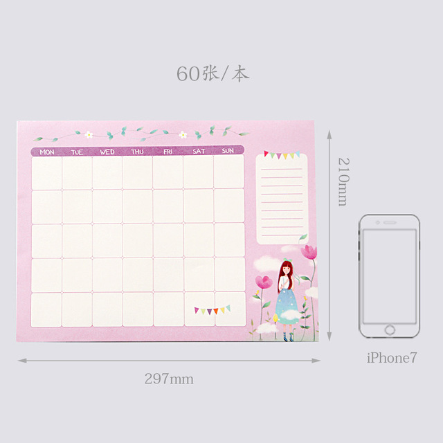 2019 2020 Agenda Notebook A4 Diary Bullet Journal Weekly Monthly Planner Papelaria School Supplies Stationary Organizer Schedule 5