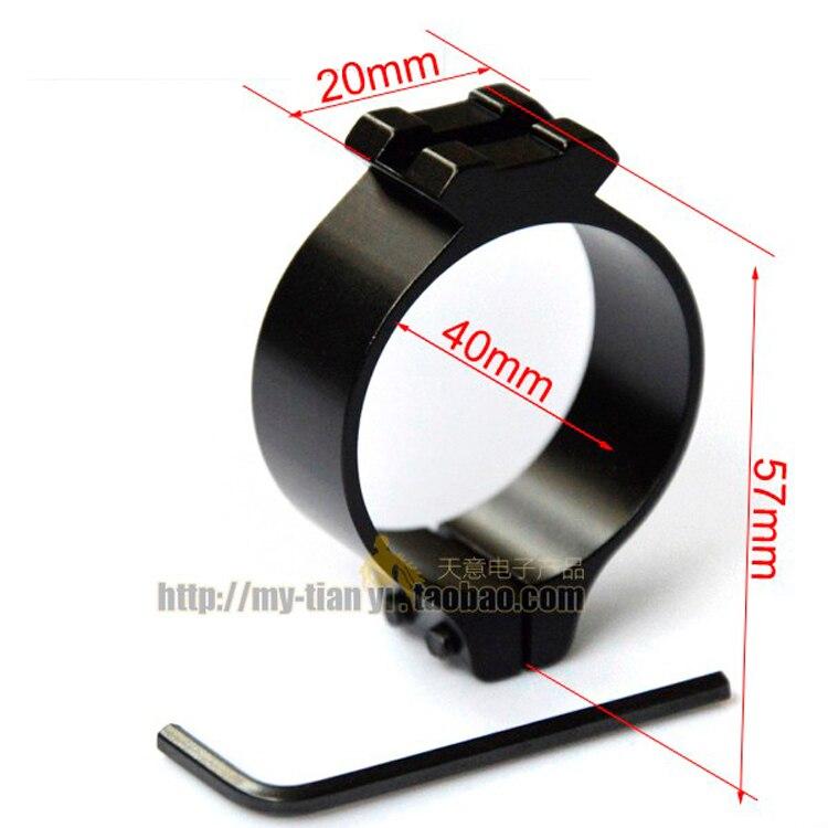 40mm Tactical Barrel Ring 20mm Weaver Picatinny Rail 1x Mount Scope Scope Barrel Mount 40mm Ring Adapter torch mount