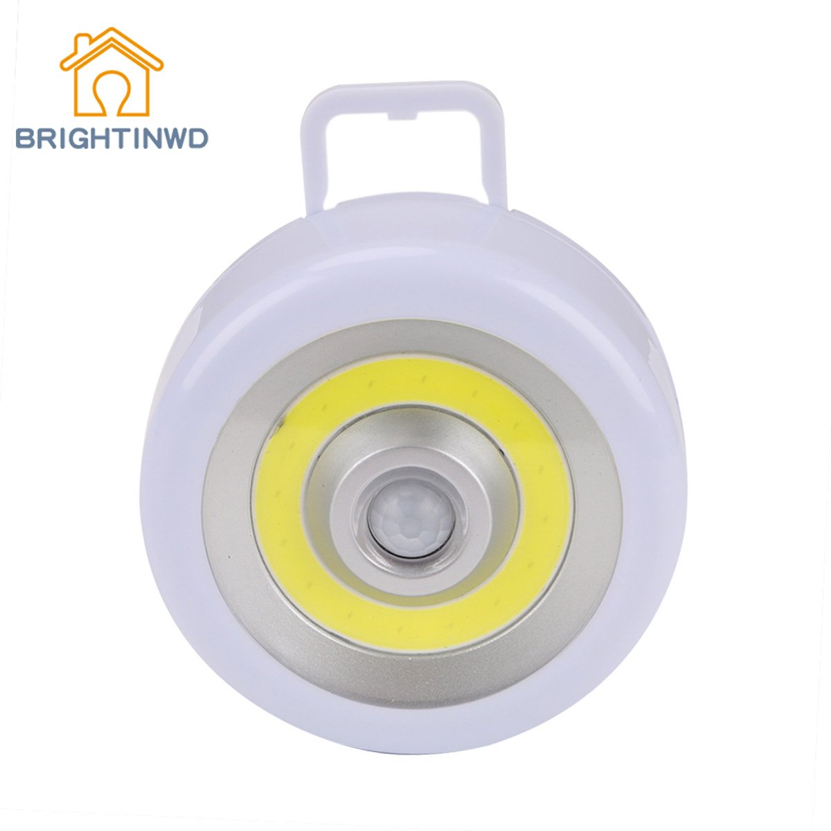 BRIGHTINWD Portable Lantern Wardrobe Light COB LED Camping Hiking Flashlights Torch Light Sensor Night Light Tent Lanterns