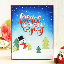 Eastshape Christmas Tree Snowman House Metal Cutting Dies for Scrapbooking Card Die Cuts Makings