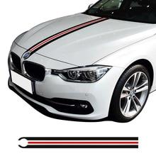 Автомобиль капот двигатель крышка капота Racing полосы линии наклейки для BMW f30 f31 e90 f34 e46 e39 e60 f10 f11 f20 x5 g30 f36 x3 x4