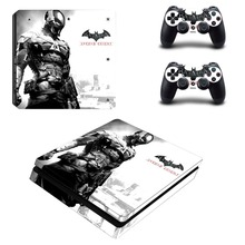 The Batman Vinyl Skin Decal PS4 Slim Sticker for Sony Play Station 4 Slim Console and 2 Controllers