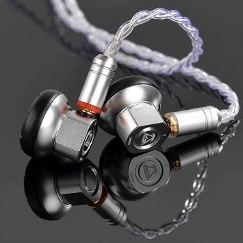 Musicmaker Toneking TO600 600 Ohm High Sensitivity Graphene Diaphragm Flat Hifi Music Monitor DJ Studio Stereo Metal Earphones