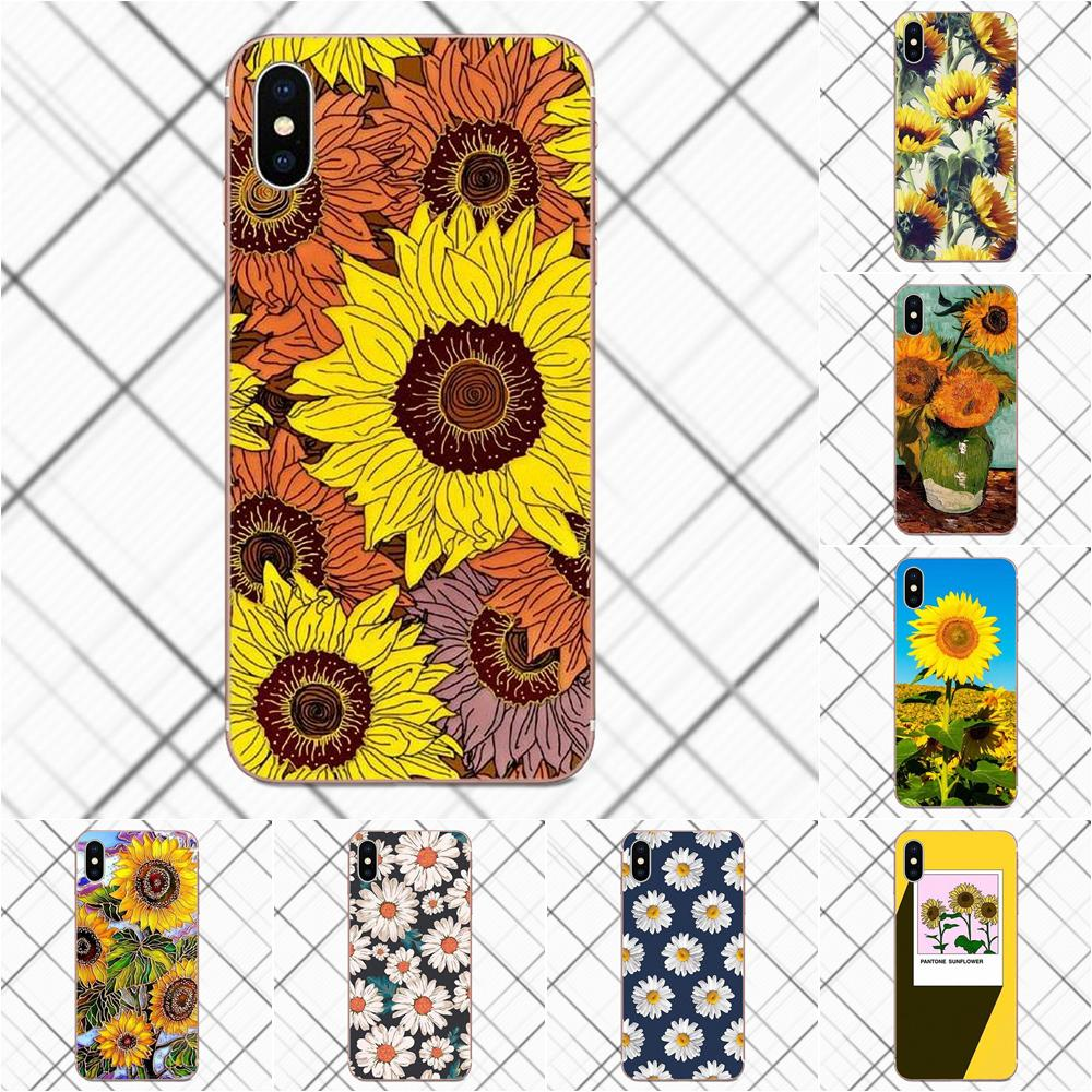 Tpwxnx TPU Phone Coque Van Gogh Sunflowers For Huawei G8 Honor 5C 5X 6 6X 7 8 9 Y5II Mate 9 P8 P9 P10 P20 Lite Plus 2017