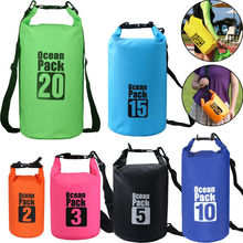 PVC Storage Bag 5L/10L/20L/30L Waterproof Dry Bag  Shoes Bag Swimming Bag Drifting Kayaking River Hiking Dustproof Backpack цена