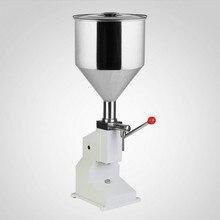Машина для наполнения пищевых продуктов, ручная, ручная, под давлением, нержавеющая паста, дозирующая, жидкое упаковочное оборудование, проданная машина для крема, 1~ 50 мл