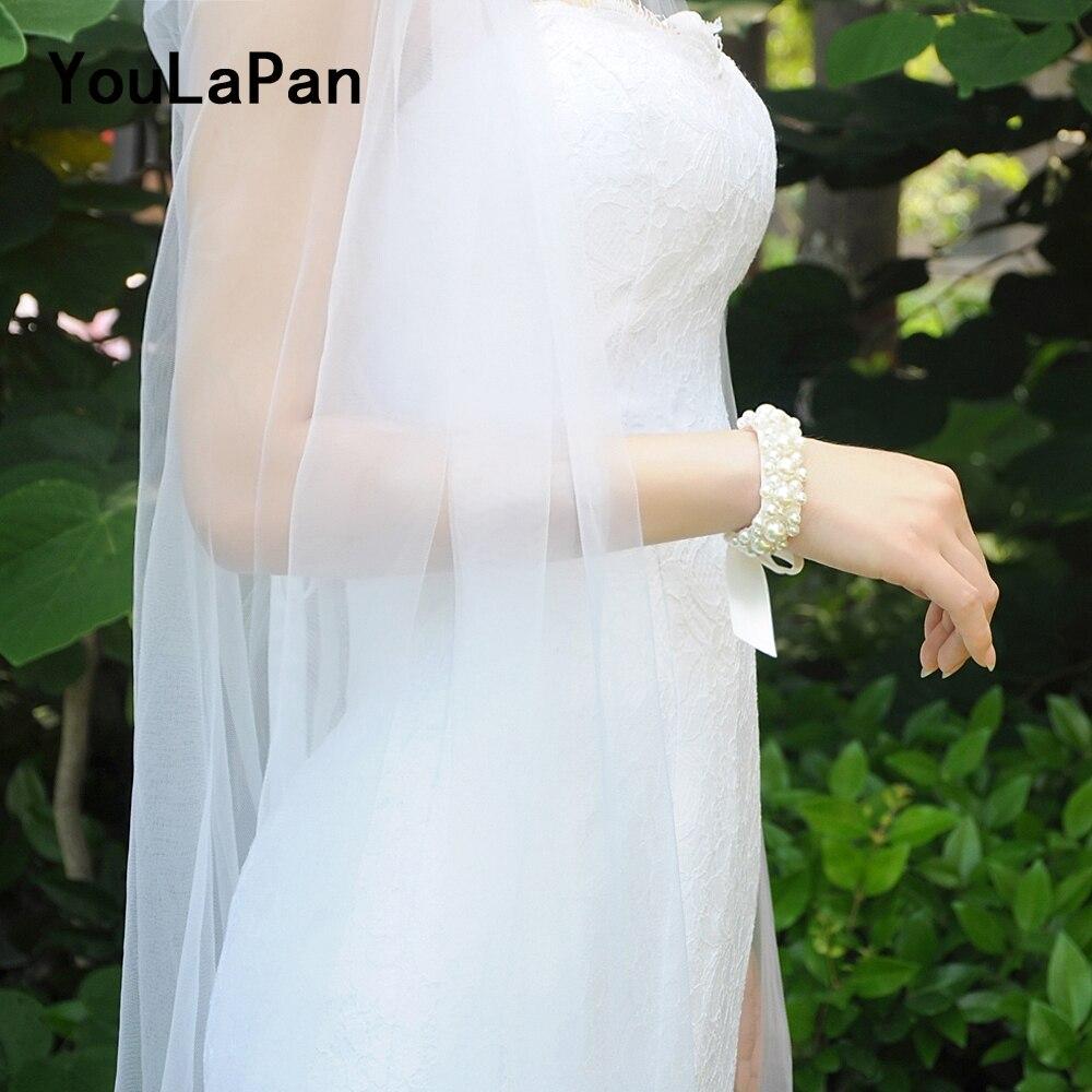 YouLaPan D03 Corsage Bracelet Wristlet Corsage Crystal Bride Wedding Flower Bracelet Prom Hand Flowers Wrist Corsage