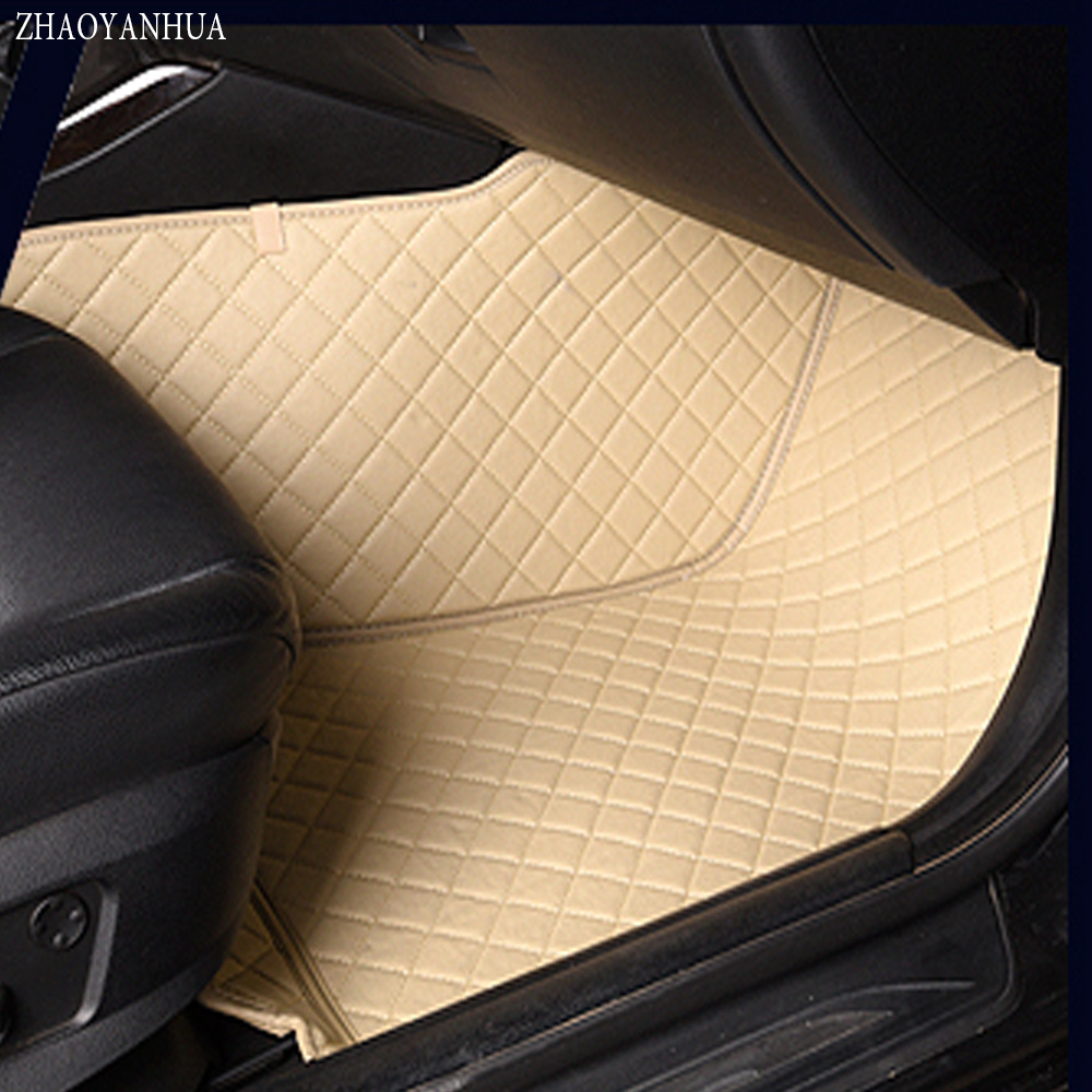 ZHAOYANHUA Car floor mats for Volkswagen Beetle CC Eos Golf Jetta Passat Tiguan Touareg 5D car-styling carpet floor liner car seat cushion three piece for volkswagen passat b5 b6 b7 polo 4 5 6 7 golf tiguan jetta touareg beetle gran auto accessories