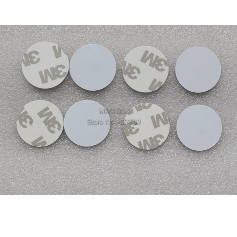 2pcs/lot 13.56MHz NTAG216 NFC tags NTAG216 self adhesive Coin 2 pcs lot