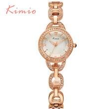 KIMIO Diseño Único Esqueleto de Pulsera Señoras Reloj de Cuarzo Para Las Mujeres Elegante Cristal de Diamante Angular Espejo Relojes de Las Mujeres