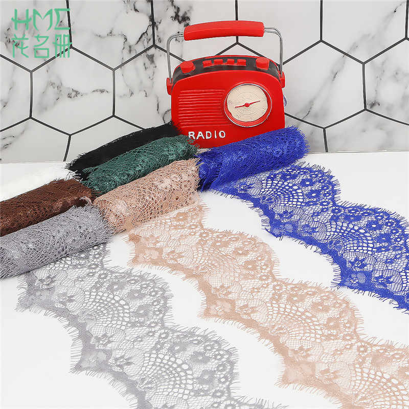3 yards/lot 9.5cm Width 10 Colors Option Flower Embroidered Lace Fabric Trim Ribbons DIY Sewing Handmade Materials New Arrival