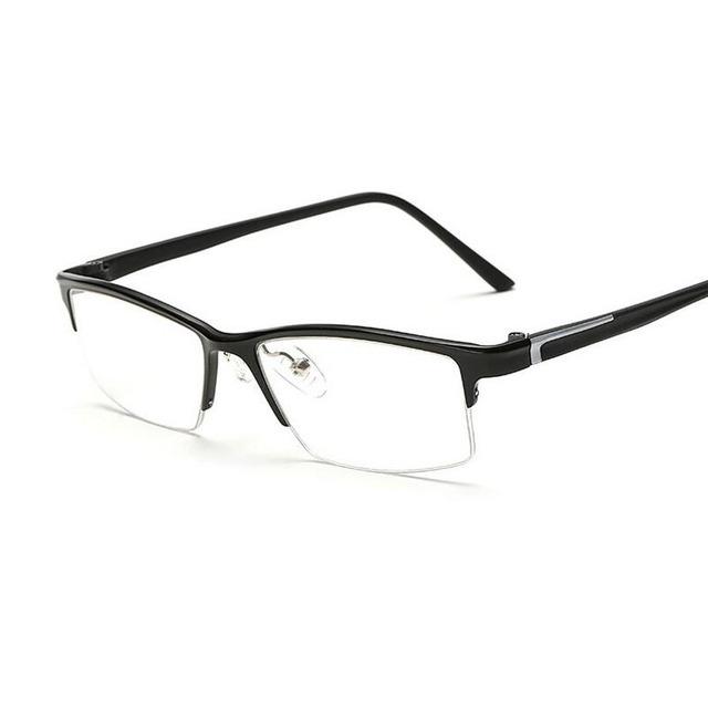 Quadrado Óculos Ópticos Quadro Homens Retro Óculos de Armação de Liga de Alumínio Fino Rosto MyopiaEyewear Decoração Óculos Oculos de sol