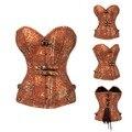 O mais recente 2016 corset de alta qualidade botões de metal do vintage retro tendência sexy corset designer para calças